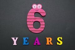 Sex år Fotografering för Bildbyråer