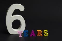Sex år Arkivbild