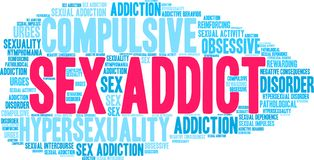 Sex Addict Word Cloud Stock Photography