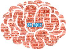 Sex Addict Word Cloud Royalty Free Stock Photo