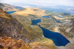 Sex av de sju Rila berg sjöarna Royaltyfri Bild