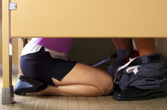 Sex in the Bathroom Stock Photography