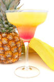 Sex on the beach cocktail. With pineapple and banana's Royalty Free Stock Photo