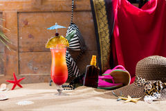 Sex on the beach cocktail Stock Images