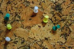 Sex ben på corkboard Royaltyfria Foton