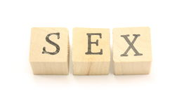 Sex Blocks. Home made blocks spell out the word sex Royalty Free Stock Photography