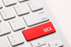 Sex button on keyboard Royalty Free Stock Image