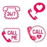 Sex call icons. Sex call service  line or love call icons vector Stock Photography