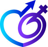 Sex contraception tablet symbol Stock Photo
