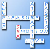 Sex on crossword Stock Image
