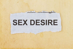 Sex desire Royalty Free Stock Image