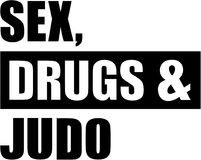 Sex drugs Judo. Vector sports Stock Image