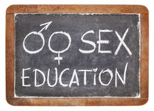 Sex education on blackboard Royalty Free Stock Photos