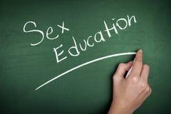 Sex Education School Blackboard Stock Photos