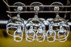 Sex exponeringsglas av torkat exponeringsglas Arkivbilder