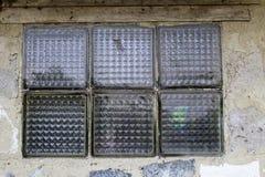 Sex fyrkantiga fönstertegelplattor Royaltyfria Foton