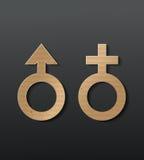 Sex icon. Male and female sex symbol - vector illustration stock illustration