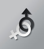 Sex icon. Male and female sex symbol - vector illustration royalty free illustration