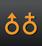 Sex icon. Male and female sex symbol - vector illustration vector illustration