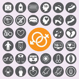 Sex icon set.vector/eps10. Sex icon set.vector/eps10 Royalty Free Stock Photo
