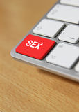 Sex keyboard keys Royalty Free Stock Photography