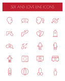 Sex and love line icons set. Vector Royalty Free Stock Image