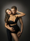 Sex, Man Kiss Sensual Woman, Passion Couple Love Portrait, Sexy Royalty Free Stock Images