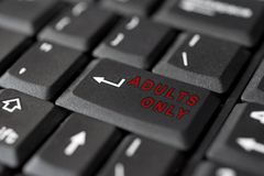 SEX  message on enter key, for pornography Royalty Free Stock Images