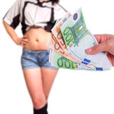 Sex for money Royalty Free Stock Photo