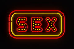Sex Neon Sign Stock Photo