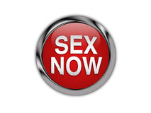 Sex Now Curved On A Glossy Push Button Royalty Free Stock Images