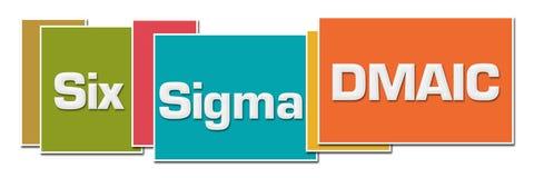 Sex olika färgaskar för Sigma DMAIC stock illustrationer