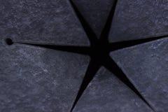 Sex-pekad stjärna symbol Fotografering för Bildbyråer