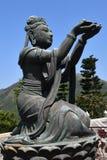 Sex perfektion Deva på den Tiantan Buddha arkivbilder