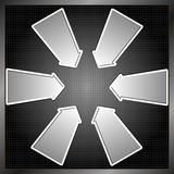 Sex pilar Fotografering för Bildbyråer