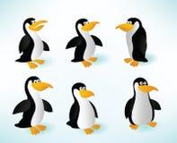 Sex pingvin Royaltyfria Bilder