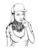 Sex rap girl Stock Photography