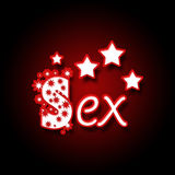 Sex in Red Black with Stars Royalty Free Stock Photos