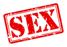 Sex red stamp text Stock Photos