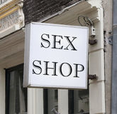 Sex Shop. A sign indicating a sex shop Royalty Free Stock Images