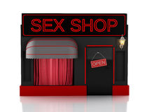 Sex shop. 3d illustration Royalty Free Stock Photography