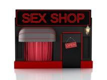 Sex shop. 3d illustration Royalty Free Stock Photography