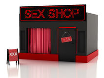 Sex shop. 3d illustration Royalty Free Stock Images