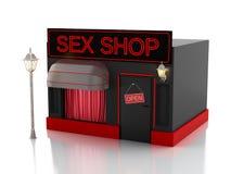 Sex shop. 3d illustration Stock Images