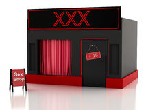 Sex shop. 3d illustration Royalty Free Stock Photo