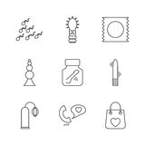 Sex shop icons Stock Image