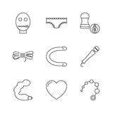 Sex shop icons Royalty Free Stock Images