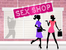 Sex shop Stock Photos