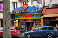 Sex shop in Montmartre, Paris Royalty Free Stock Images