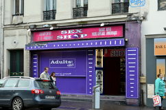 Sex shop in Montmartre, Paris Stock Photography